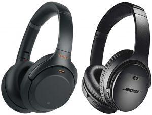 Bose-QuietComfort-35-II-and-Sony-WH-1000XM3-Noise-canceling-Headphones