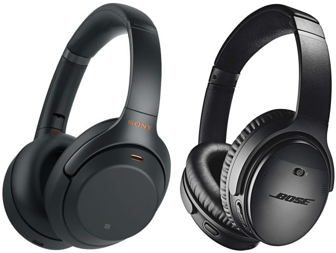 Bose-QuietComfort-35-II-and-Sony-WH-1000XM3-Noise-canceling-Headphones