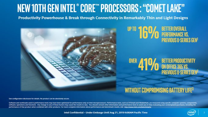 Intel Comet Lake Performance Projections