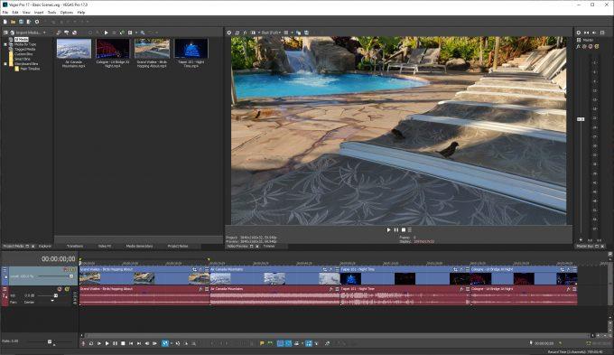 MAGIX Vegas Pro 17 - Basic Scenes Test