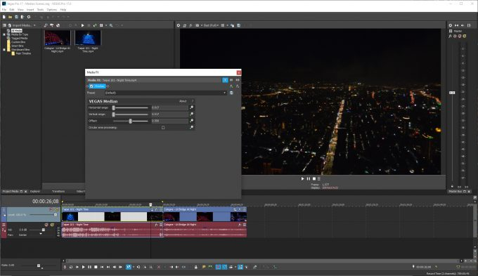 MAGIX Vegas Pro 17 - Median FX Test