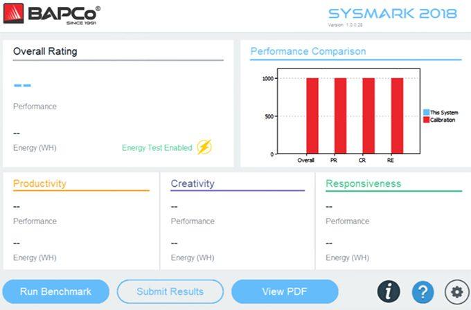 BAPCo SYSmark 2018