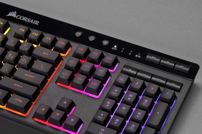 Corsair K57 RGB WIRELESS Media And Arrow Keys Lights On