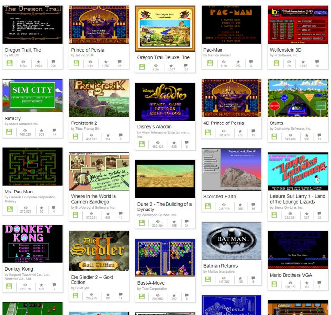 DOS Games At Internet Archive