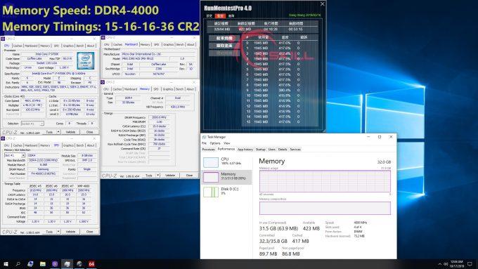 G.SKILL DDR4-4000 CL15 Benchmarking