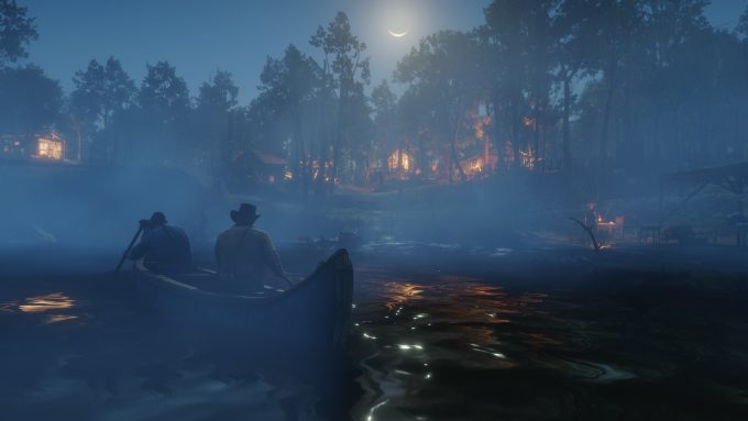 Red Dead Redemption 2 - Canoe On The River