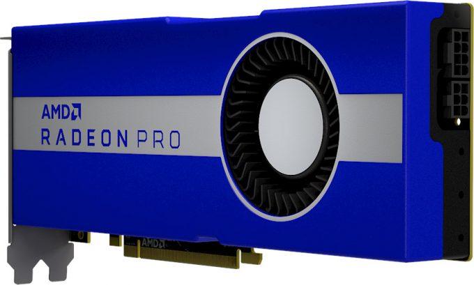 AMD Radeon Pro W5700 - Angle