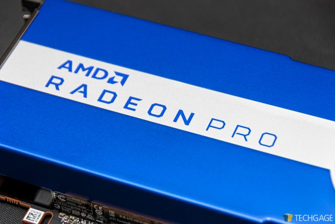 AMD Radeon Pro W5700 - Logo Closeup