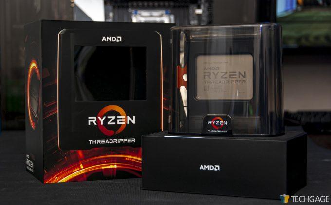 AMD Ryzen Threadripper Third-gen Out Of Its Box