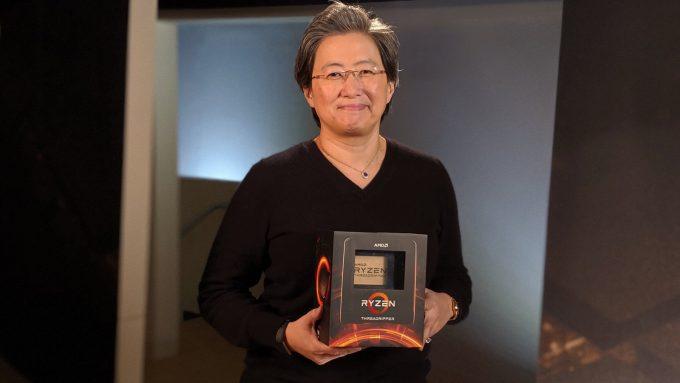 AMD's Lisa Su With Third-gen Ryzen Threadripper