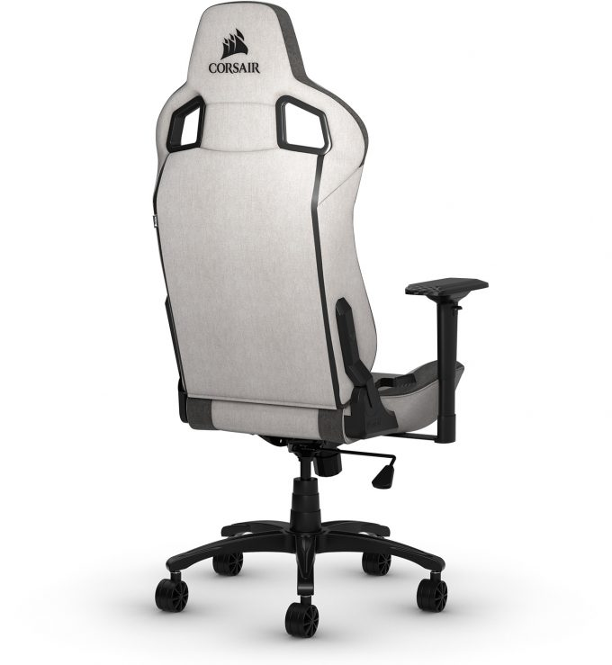 Corsair T3 Rush Gray Charcoal Gaming Chair - Back
