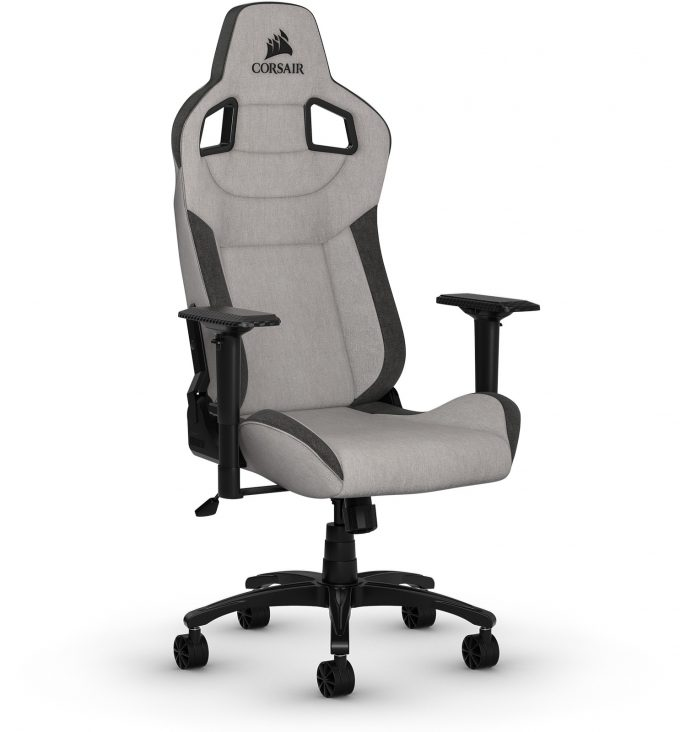Corsair T3 Rush Gray Charcoal Gaming Chair - Front