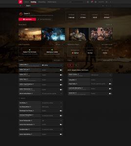 AMD Radeon Software Adrenaline 2020 Gaming - Game Details (Advanced)
