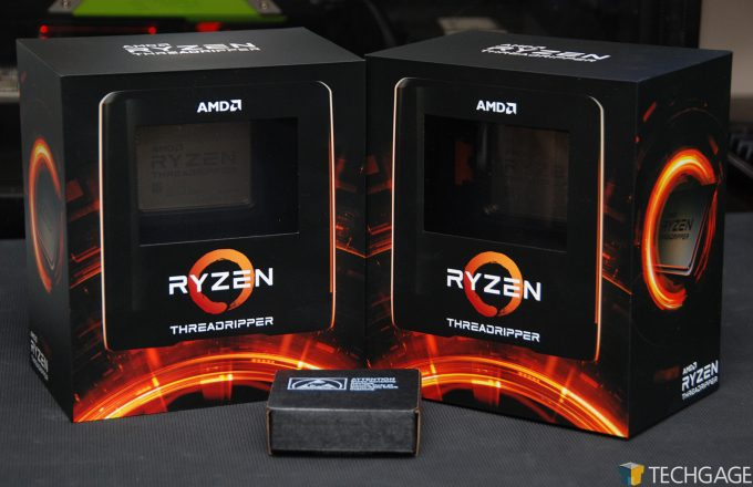 AMD Ryzen Threadripper Third-gen Packaging and Intel Core i9-10980XE Engineering Sample