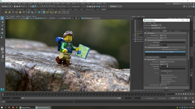 Autodesk Maya 2019 and Arnold Renderer 6