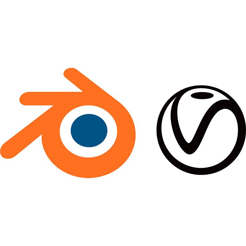 Blender and V-Ray Logos Thumb