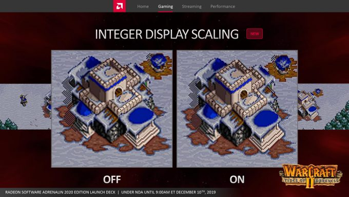 Radeon Software Adrenaline 2020 Press Deck - Integer Scaling