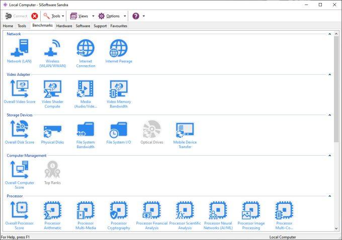 SiSoftware Sandra 2020