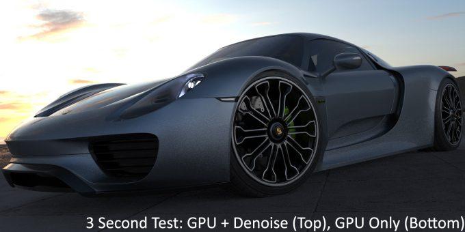 KeyShot 9 - GPU Denoise (Top) vs GPU Only (Bottom)