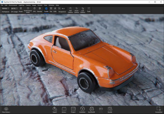 Luxion KeyShot 9 Toy Car Render