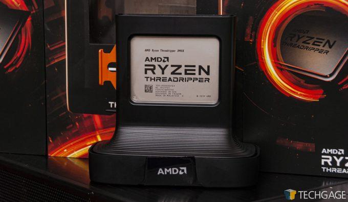 AMD Ryzen Threadripper 3990X - In Packaging Tray