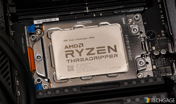 AMD Ryzen Threadripper 3990X - Installed In Socket