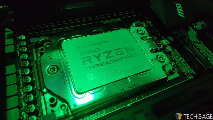 AMD Ryzen Threadripper 3990X Under Green Light