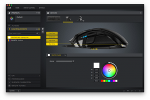 iCUE Software for macOS Review Mouse Zone Lighting