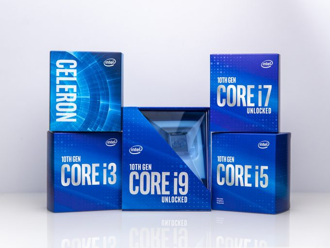 Intel Comet Lake-S 10th-gen CPU Packaging