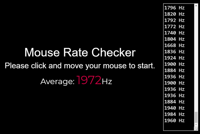 Mouse Rate Checker - Corsair Dark Core Pro