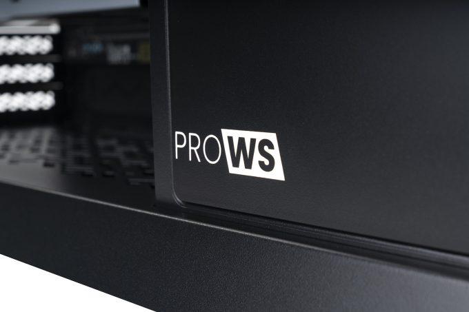 MAINGEAR Pro WS Workstation PC - Logo Closeup