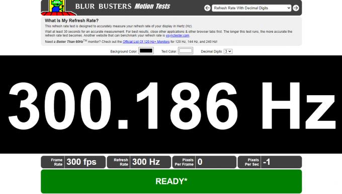 Blur Busters - 300Hz on Acer Predator Triton 500