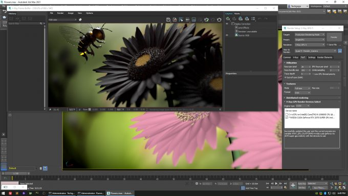 V-Ray 5.X Flowers - Out-of-core Test