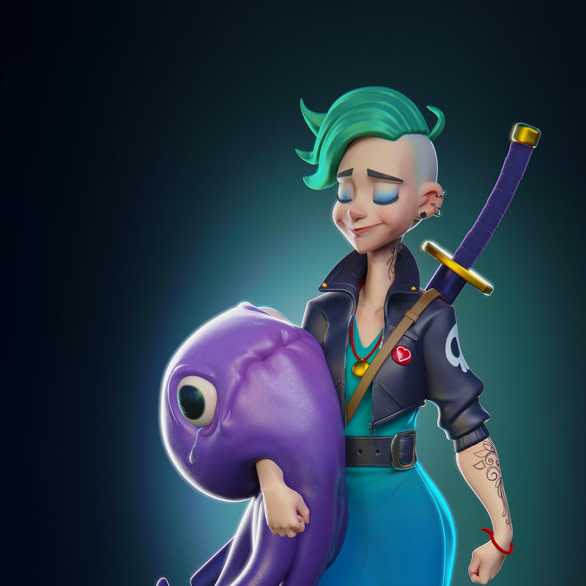 Luxion KeyShot - Character Render Thumbnail