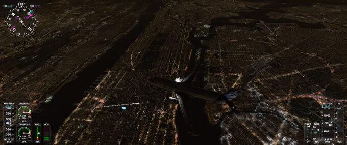 Microsoft Flight Simulator (2020) NYC At Night