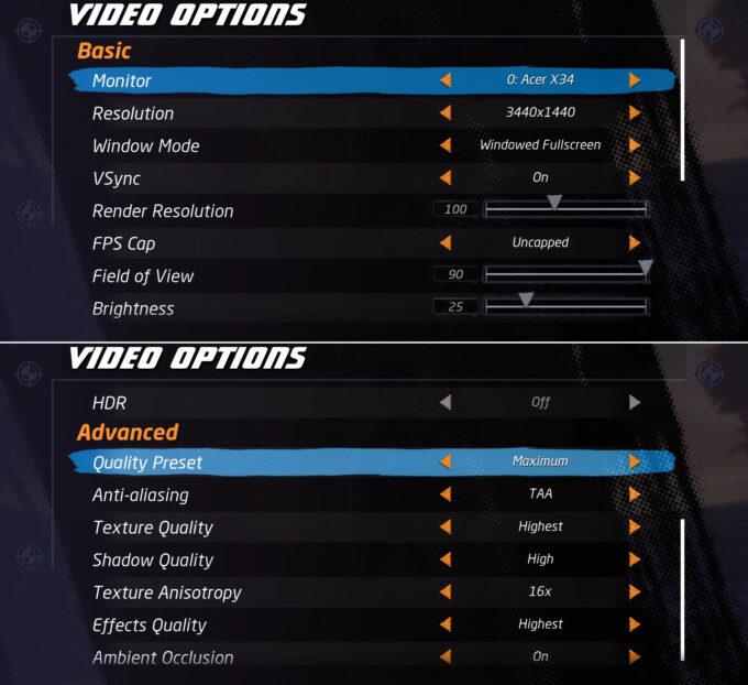 Tony Hawk's Pro Skater 1+2 PC Graphics Options