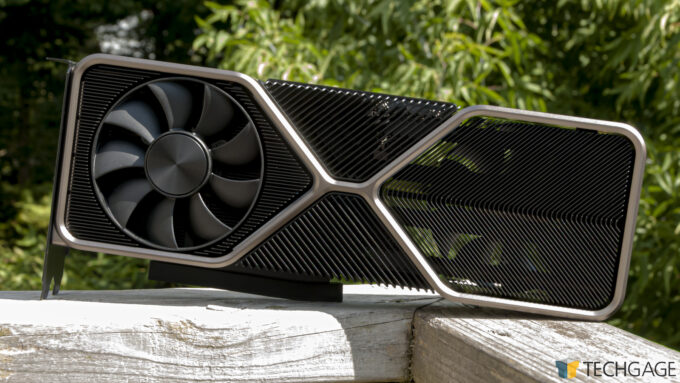 NVIDIA GeForce RTX 3080 Founders Edition - Outdoor Shot