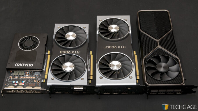 NVIDIA GeForce RTX 3080 Founders Edition - Size Comparison