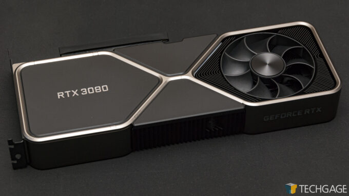 NVIDIA GeForce RTX 3080 Founders Edition - Underneath