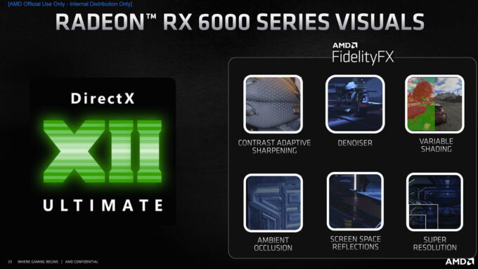 AMD Radeon RX RDNA2 Graphics Features