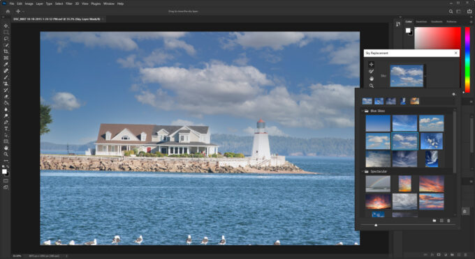 Adobe Photoshop 2021 - Sky Replacement Feature