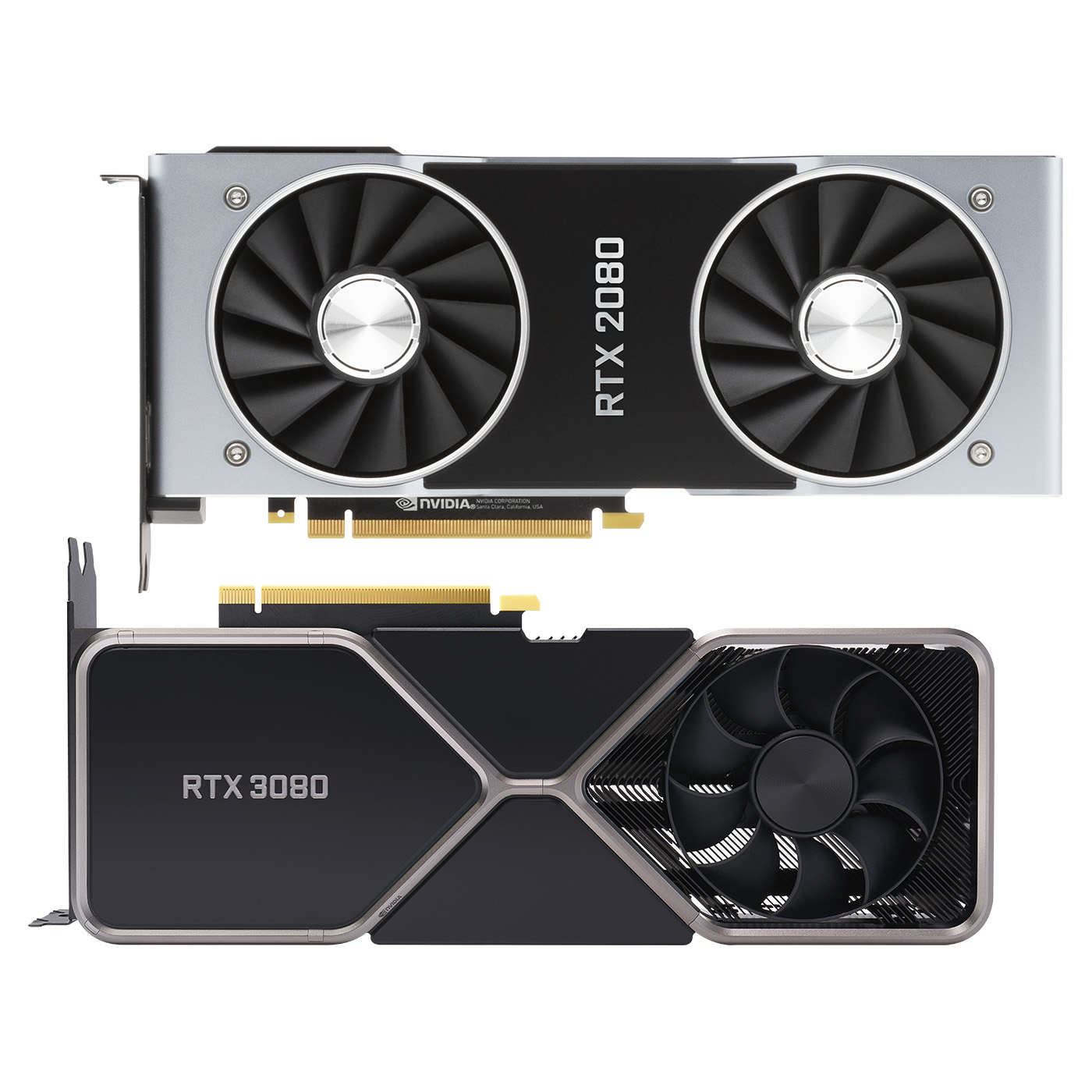 NVIDIA GeForce RTX 2080 and 3080