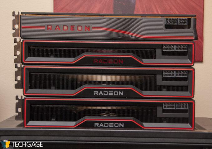 AMD Radeon RX 6900 XT - 5700 XT, 6800 & 6800 XT Size Comparison