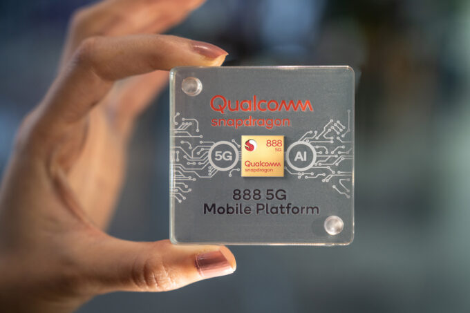 Qualcomm Snapdragon 888 Chip Case In-Hand