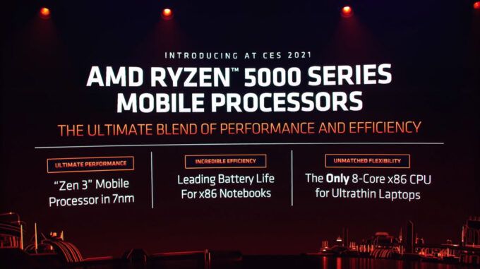 AMD Ryzen 5000 Mobile Processors Presentation