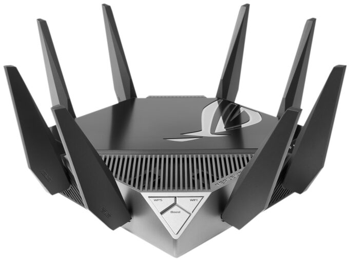 ASUS Rapture GT-AXE11000 Wi-Fi 6E Router - Front View