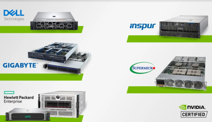 NVIDIA Certified AI Servers From HP, Inspur, Dell, GIGABYTE, Supermicro