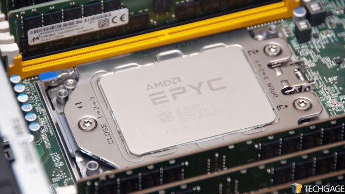 AMD EPYC 7763 Installed In Daytona Reference Platform