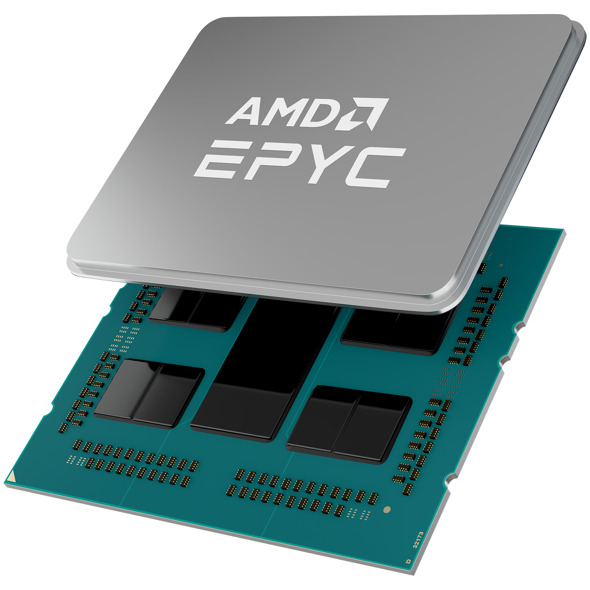 AMD EPYC Third-gen Chip Shot