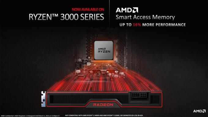 AMD Smart Access Memory Coming To Ryzen 3000 Series